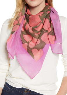kate spade new york heart strings square wool scarf