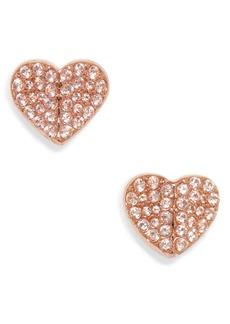 kate spade new york heart to heart mini pavé stud earrings
