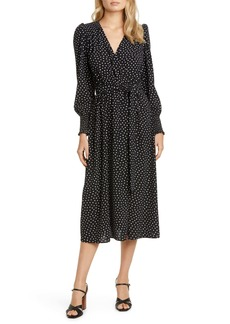 kate spade new york heartbeat long sleeve belted dress