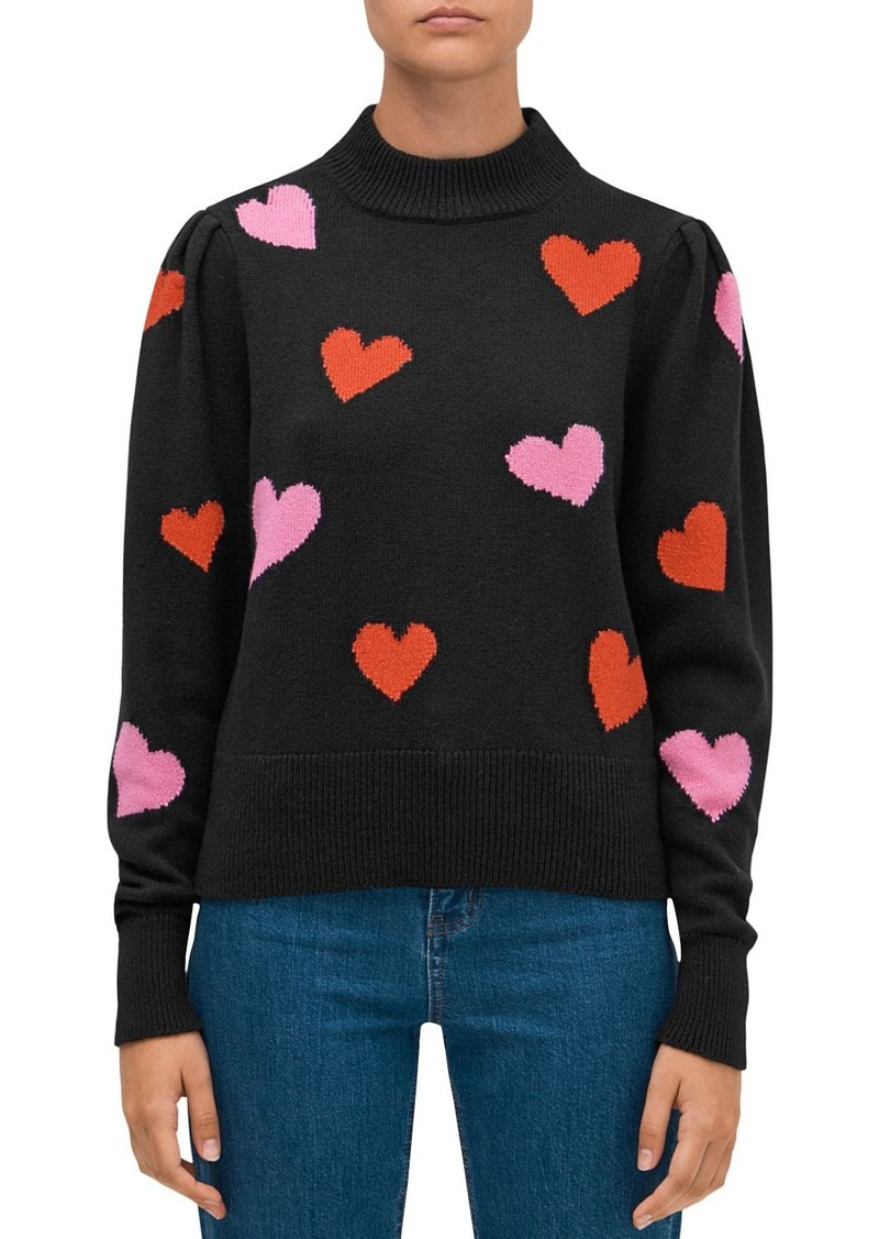 kate spade new york Hearts Mock-Neck Sweater
