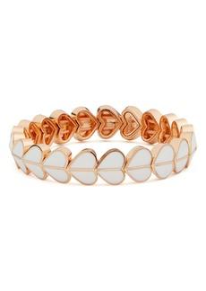 kate spade new york heritage spade enamel heart stretch bracelet