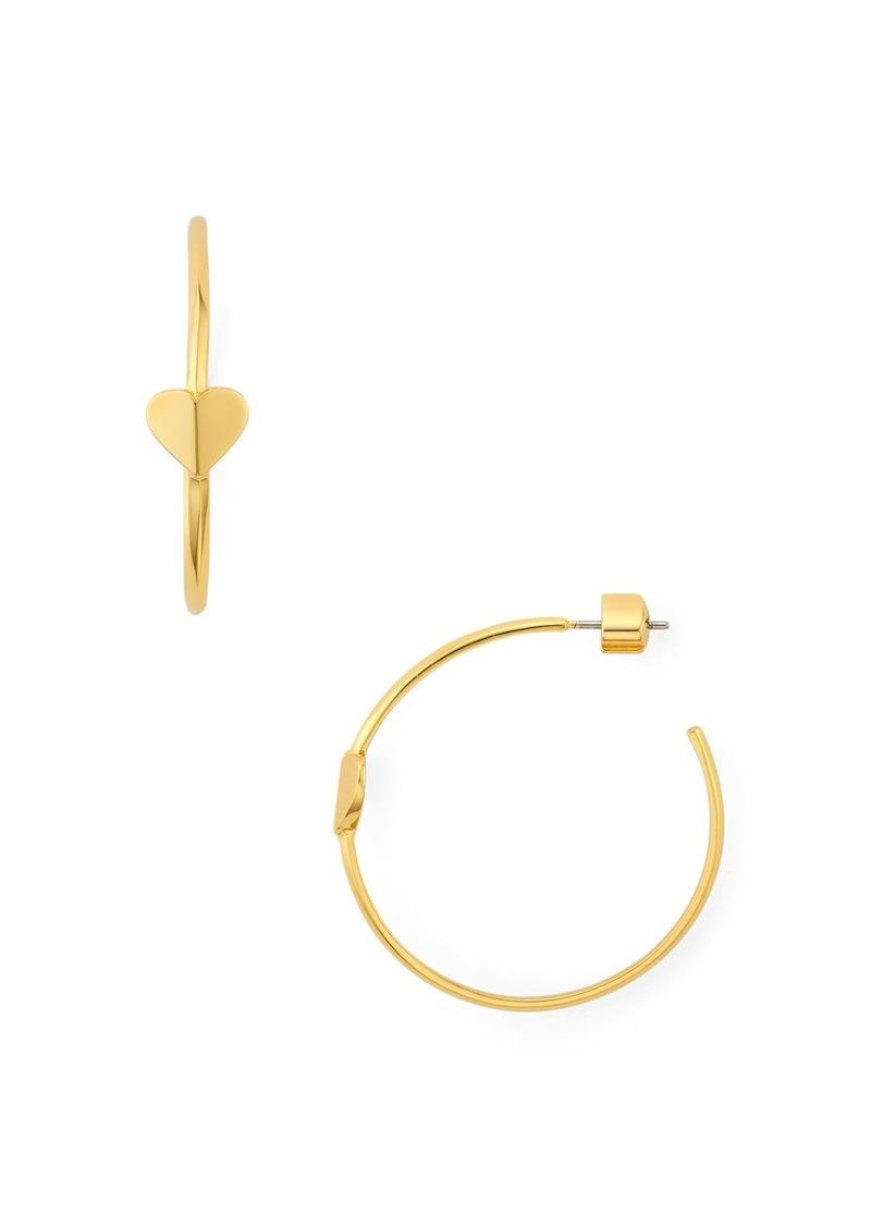 kate spade new york Heritage Spade Heart Hoop Earrings