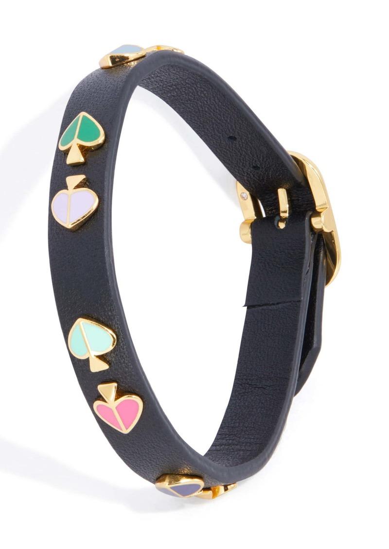 kate spade new york heritage spade studded leather bracelet