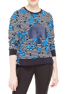 kate spade new york hibiscus stripe sweatshirt