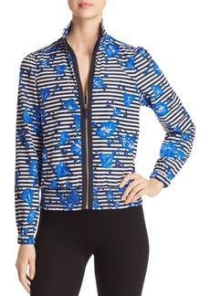 kate spade new york Hibiscus Striped Jacket