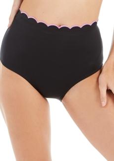 kate spade new york High-Waist Ruffled Bikini Bottoms Women's Swimsuit