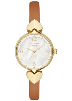 Kate Spade New York Hollis Luggage Leather Strap Watch 30mm