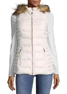 Kate Spade New York Hooded Faux Fur Vest