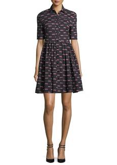 kate spade new york hot rod poplin mini a-line dress