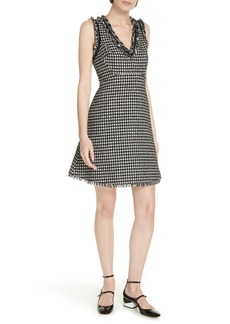 kate spade new york houndstooth tweed dress