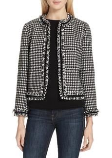 kate spade new york houndstooth tweed jacket