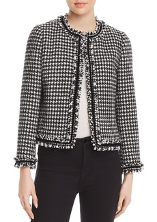 kate spade new york Houndstooth Tweed Jacket