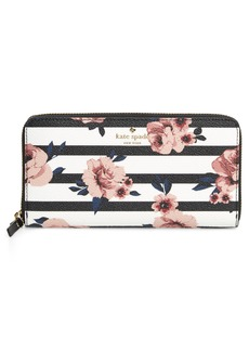 kate spade new york hyde lane - rose stripe lacey zip around wallet