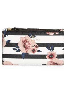 kate spade new york hyde lane - rose stripe mikey wallet