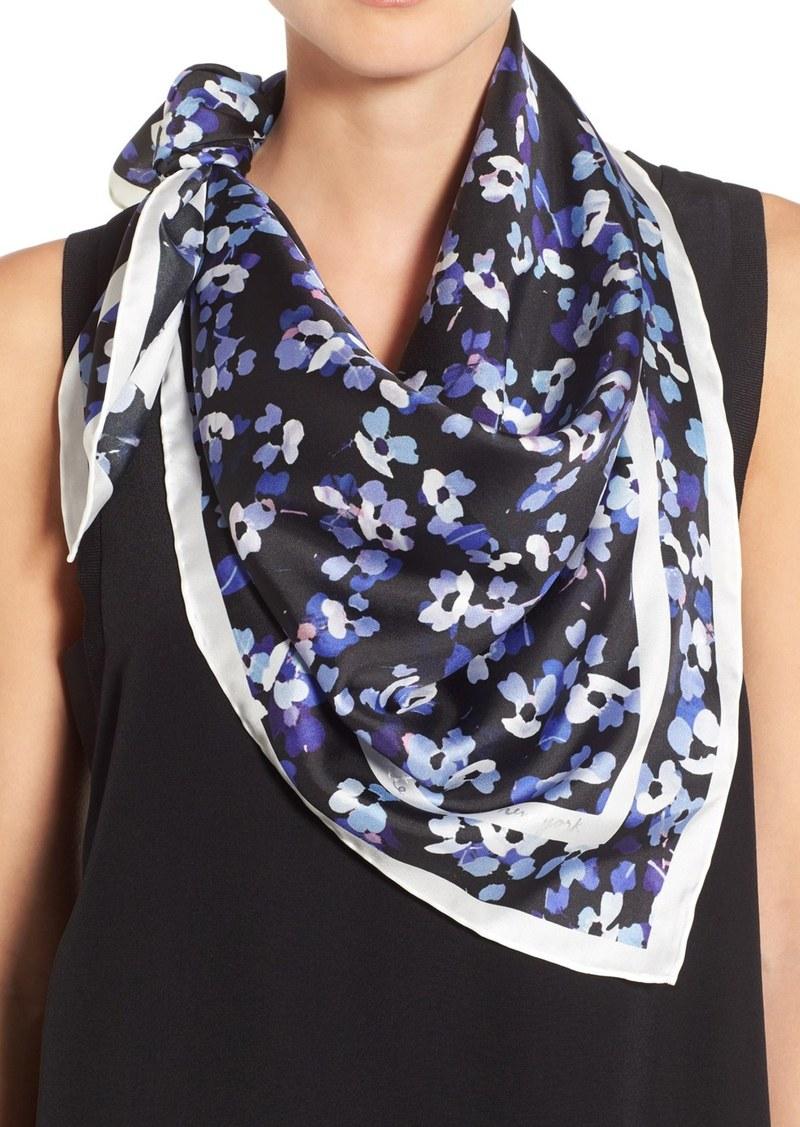 kate spade new york 'hydrangea' silk square scarf