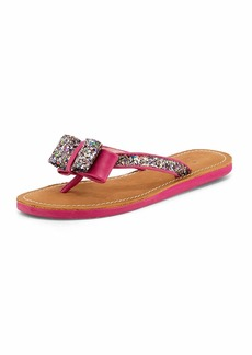 Kate Spade icarda glitter bow flat thong sandal