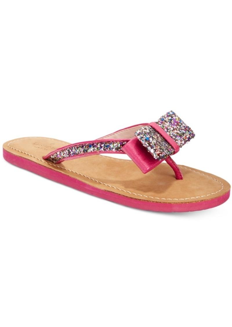 3cee99aa80c7 Kate Spade kate spade new york Icarda Glitter Bow Flip Flops