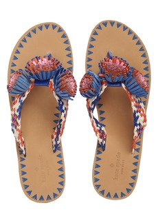 kate spade new york idette fringe flip flop (Women)