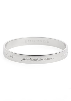 kate spade new york 'idiom - bridesmaid' bangle