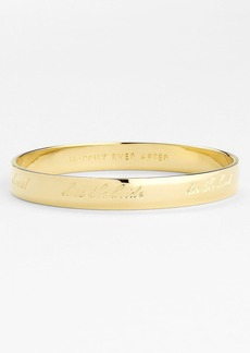 kate spade new york 'idiom - happily ever after' bangle