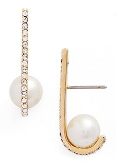 kate spade new york imitation pearl drop earrings