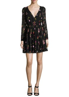 kate spade new york in bloom floral-embroidered burnout mini dress