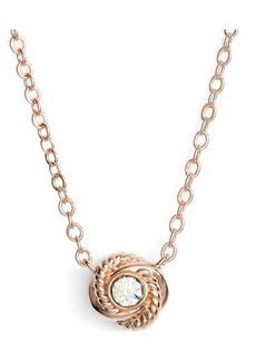kate spade new york 'infinity and beyond' knot necklace