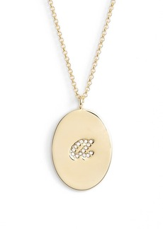 kate spade new york 'initial thoughts' initial pendant necklace