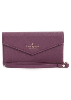 kate spade new york iPhone 7/8 & 7/8 Plus leather wristlet