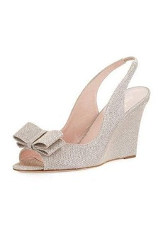 kate spade new york irene slingback metallic wedge pump