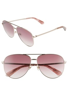 kate spade new york isla 61mm aviator sunglasses
