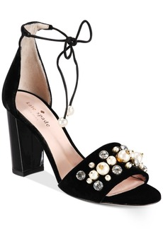 kate spade new york Iverna Pearl-Studded Open-Toe Pumps