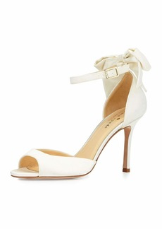 kate spade new york izzie bow-back satin d'orsay pump