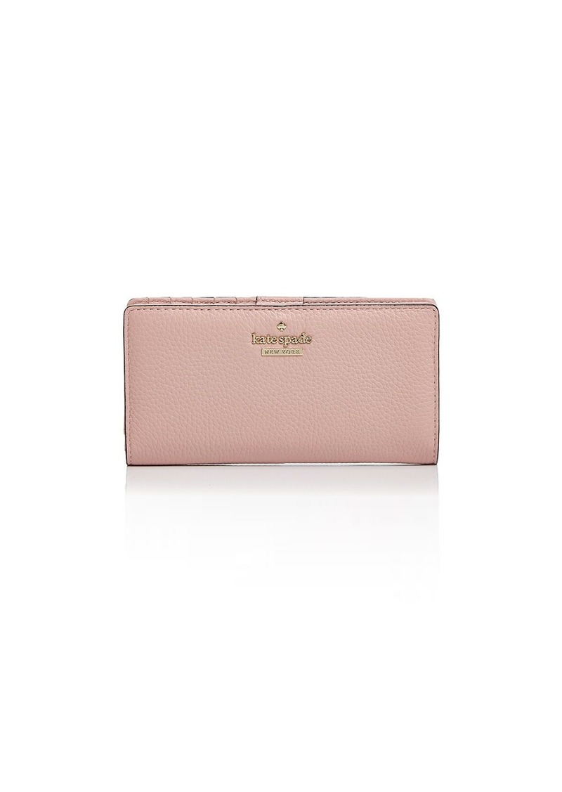 09ecf7f700323 kate spade new york Jackson Street Stacy Pebbled Leather Continental Wallet