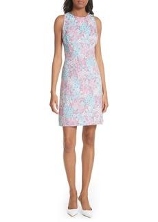 kate spade new york jacquard a-line dress