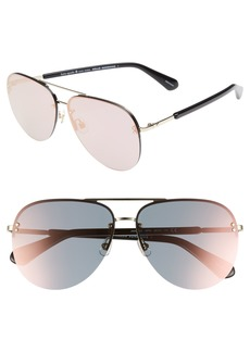 kate spade new york jakaylas 62mm aviator sunglasses