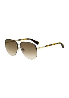 Kate Spade jakaylas mirrored aviator sunglasses