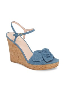 kate spade new york janae knot platform wedge sandal (Women)