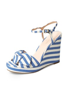 kate spade new york janae knot platform wedge sandal (Women)