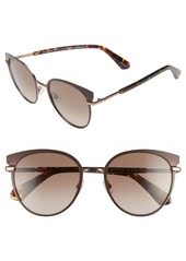 kate spade new york janalee 53mm cat eye sunglasses