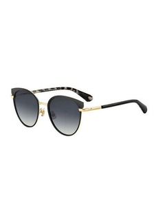 janalee round metal & acetate sunglasses