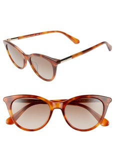 kate spade new york janalynns 51mm gradient cat eye sunglasses