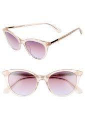 kate spade new york janalynns 51mm gradient cat eye sunglasses