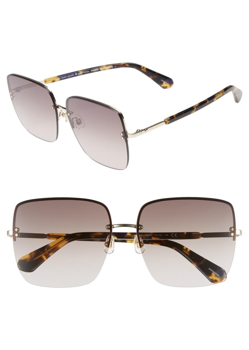 kate spade new york janays 61mm rimless square sunglasses