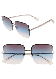 kate spade new york janays 61mm rimless square sunglasses