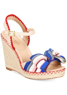 kate spade new york Jane Bow Wedge Sandals Women's Shoes