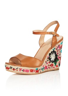 kate spade new york Jardin Embroidered Platform Wedge Sandals
