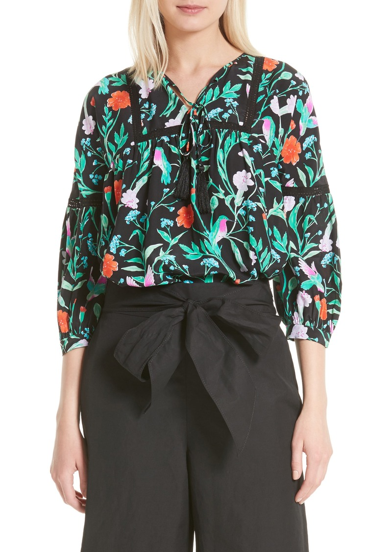 8f3031dc494947 Kate Spade kate spade new york jardin lace inset silk blouse