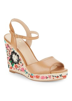 Kate Spade New York Jardin Leather Wedge Sandals