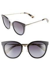 kate spade new york jazzlyn 51mm Cat Eye Sunglasses